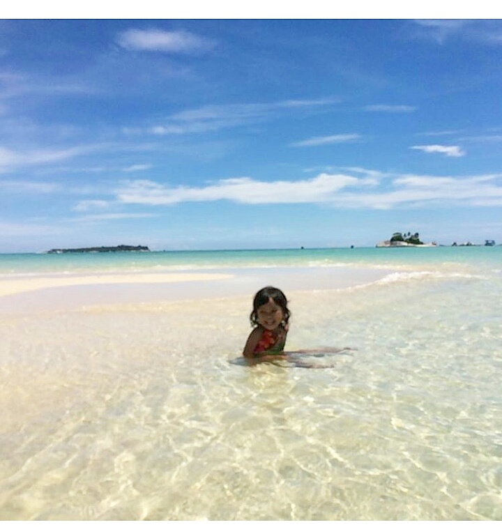 Crystal clear water at Pulau Pasir